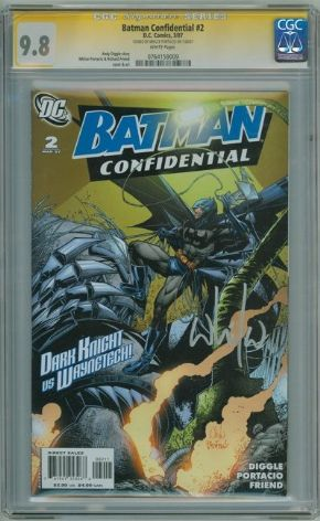 Batman Confidential #2 CGC 9.8 Signature Series SS Signed Whilce Portacio DC comic book